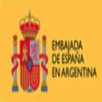 Embajada de España en Argentina (Marian, este creo que lo podes hacer mas grande con photoshop. buscas el escudo de españa por un lado, luego el color de fondo y escribis a mano eso, listo)